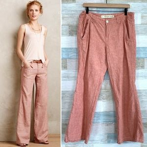 Pink Linen Pants High Rise Anthropologie